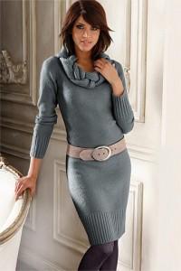 Elegancka ciepła sukienka